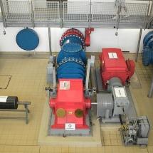 In der Staumauer des großen Brombachsees - Der Generatorraum