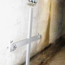 In der Staumauer des großen Brombachsees - Dehnungs-Meßstellen
